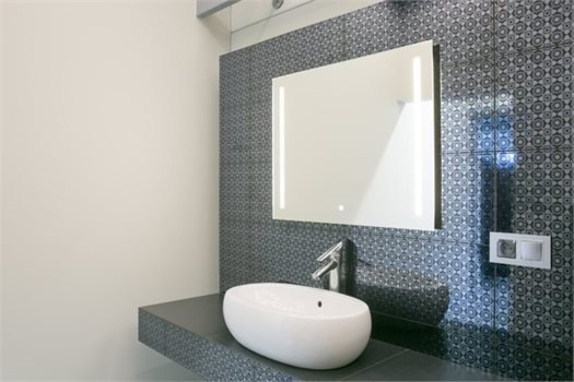"LED Mirror Simple Line 31.5"" x 25.6"""