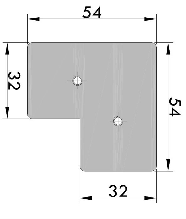 Wide Frame Corner Connector Type 1